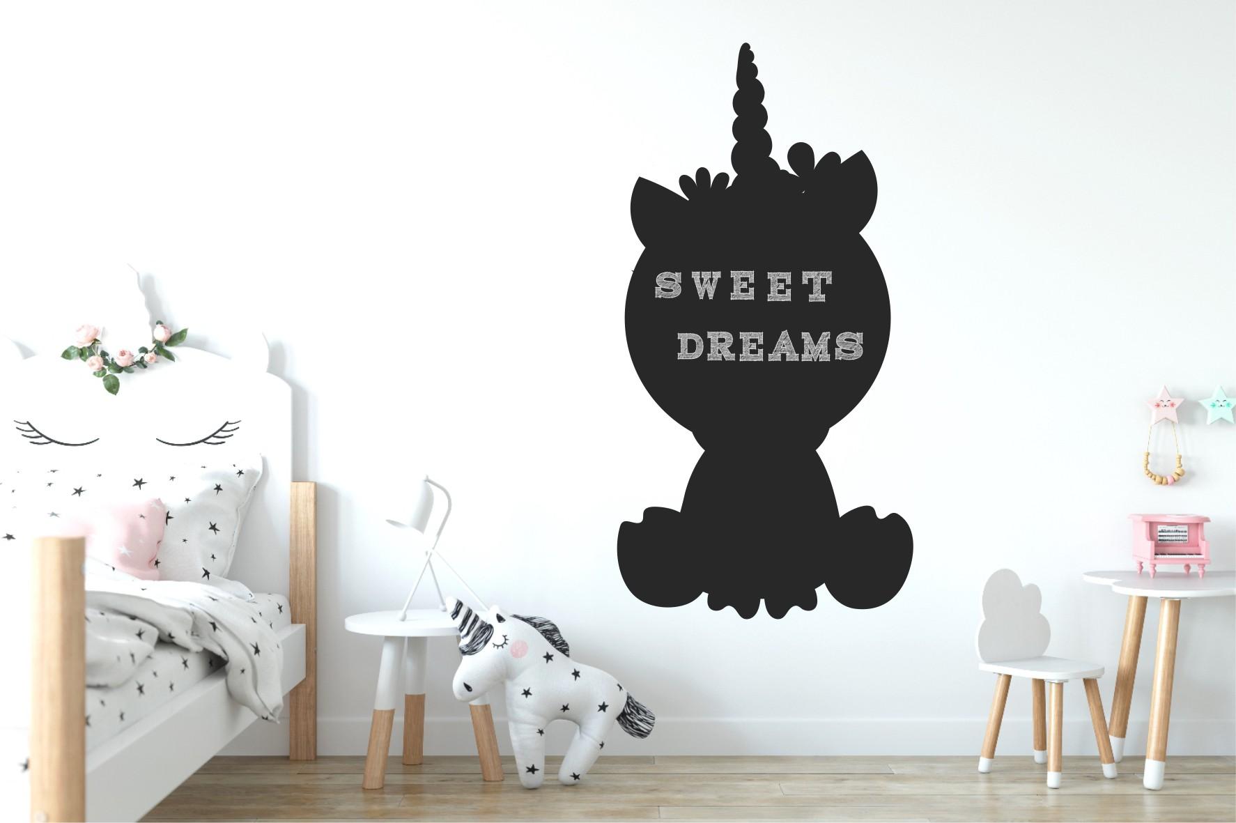 Chalkboard sticker - unicorn 2