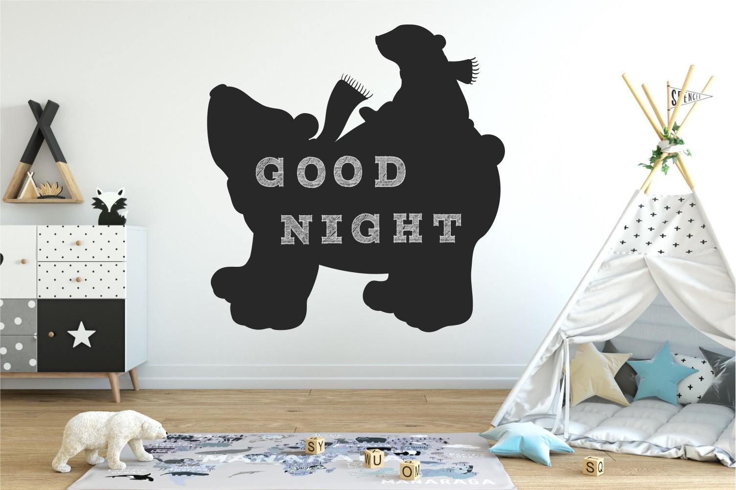 Chalkboard sticker - bear and mama bear