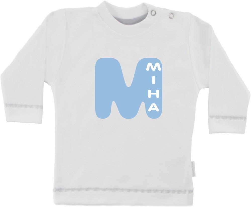 Dolga otroška majica z otrokovim imenom
