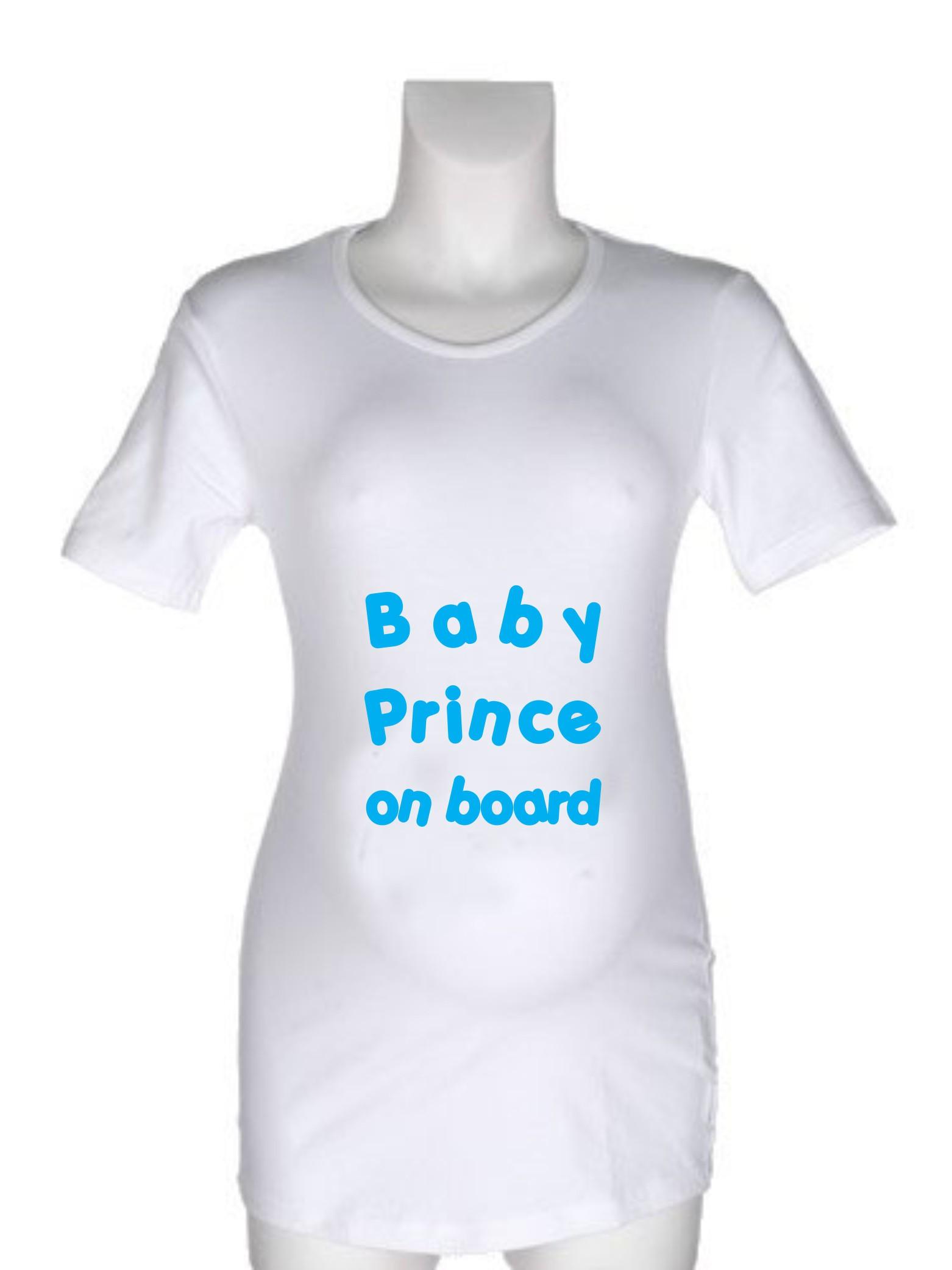 Nosečniška majica z napisom – Baby Prince on board