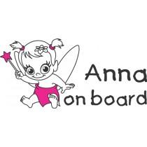 Baby on board car sticker Magic fairy