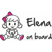Baby on board girl with teddy bear