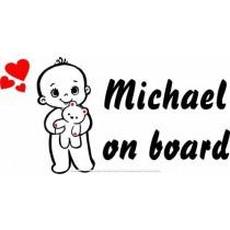 Baby on board I love teddy
