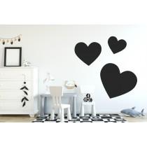 Chalkboard sticker - 3 hearts