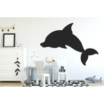 Chalkboard sticker - dolphin