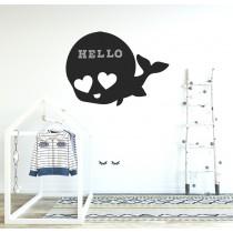 Chalkboard sticker - whale
