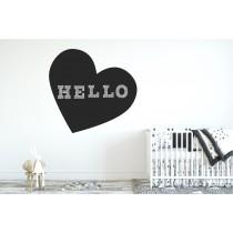 Chalkboard sticker - heart