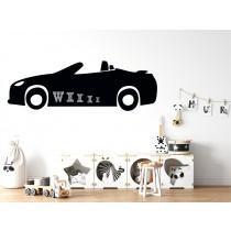 Chalkboard sticker - car