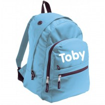 Backpack for school light blue
