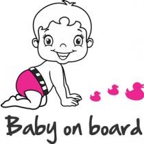 Baby on board sticker catch the ducks