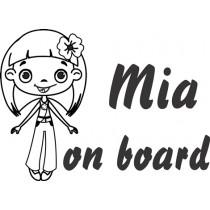 Baby on board  flower power