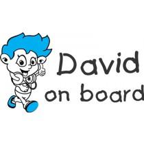 Baby on board sticker music rocks