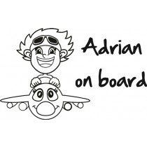 Baby on board sticker i can fly