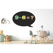 Chalkboard sticker - circle cloud
