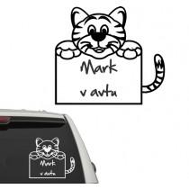 Baby on board sticker tiger
