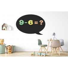 Chalkboard sticker - circle cloud