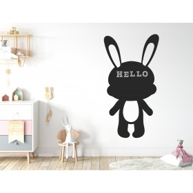 Chalkboard sticker - rabbit