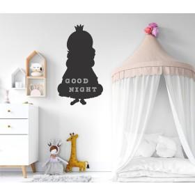 Chalkboard sticker - princess