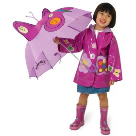 Kids rain coat Kidorable - Butterfly