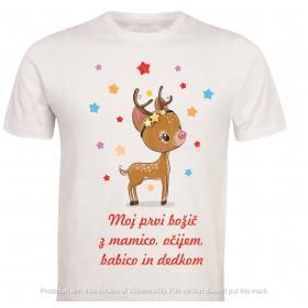Otroška majica -moj prvi, drugi, tretji ...božič z mamico, očkom, setrico /bratcem /dedijem /babico /teto /stricem