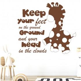 Wall sticker - giraffe