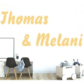 Wall sticker - two names