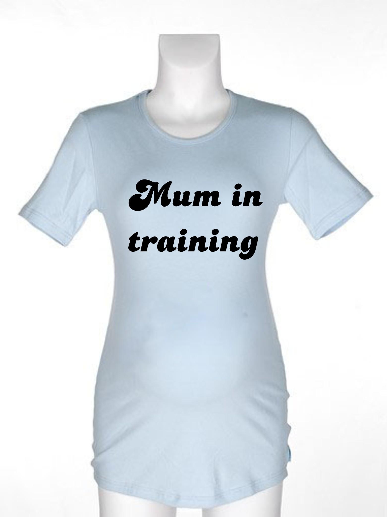 Majica za nosečnice z napisom - Mum in training