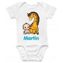 Otroški body žirafka z doječkom