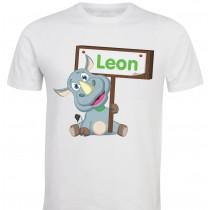 Otroška majica -nosorog z napisom