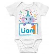 Otroški body rojstni dan slonček