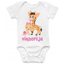 Otroški body srčica z žirafko