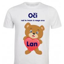Otroška majica -medvedek rad te imam