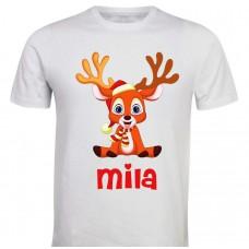 Otroška majica - barvni jelenček