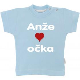 Otroška majica z napisom - rad imam očka